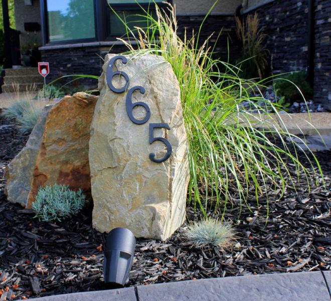 JPL House Number Rock