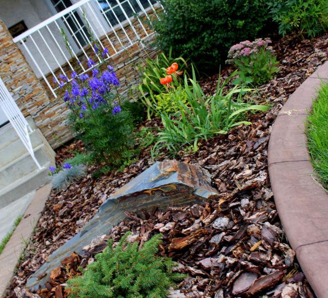 JPL Mulch Plants Bushes