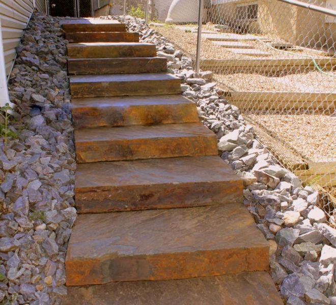 JPL Side House Steps